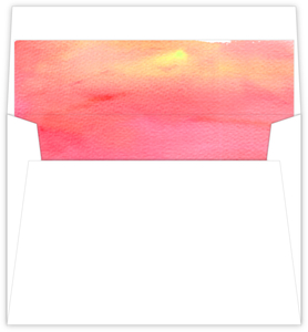 Sunset Watercolor Envelope Liner