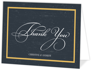Yellow Vintage Frame Personalized Thank You Card