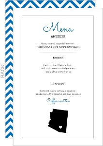 Personalized State Wedding Menu