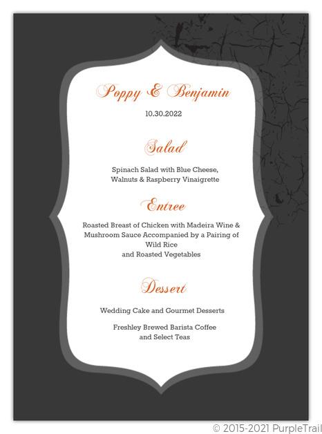Halloween 2020 Regal Regal Pumpkin Halloween Wedding Menu Card   Wedding Menu Cards