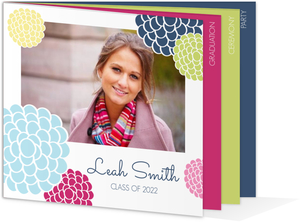 Multi Color Floral Graduation Invitation
