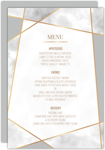 Modern Geometric Frame Menu Card