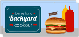 Patriotic Backyard BBQ Cookout Invitation