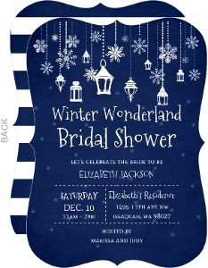 Blue Winter Wonderland Bridal Shower Invitation