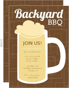 Brown Beers Cheers Backyard Bbq Invitation