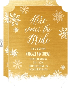 Gold Winter Bridal Shower Invitation