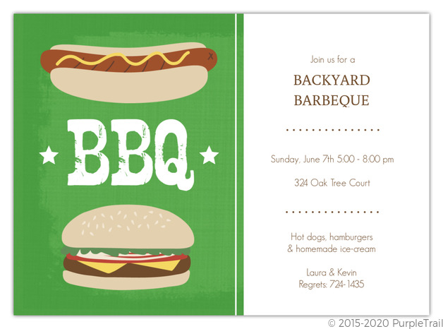 green outdoor cookout barbeque party invitation bbq invitations