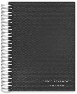 Grey Patterned Mom Planner