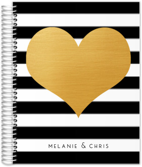 Modern Love Faux Foil Heart Wedding Planner