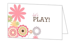 Pink And White Floral Mommy Play Date Card - 7882
