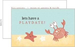 Under The Sea Play Date Card
