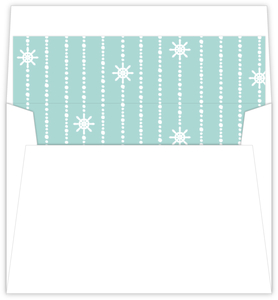 Nautical Mint And Gray Envelope Liner