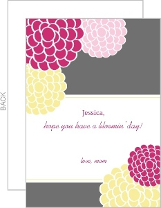 Bright Flowers Lunchbox Card