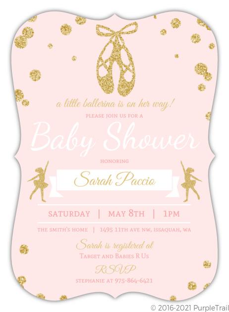 Pink and gold ballerina baby shower invitation ballerina baby pink and gold ballerina baby shower invitation filmwisefo