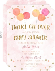 Twirl On Over Baby Shower Invitation