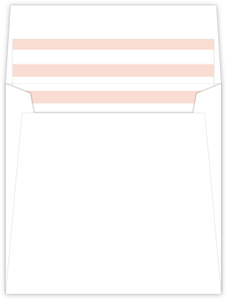 Floral Vintage Peach Stripes Envelope Liner