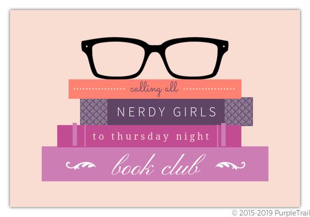 hipster glasses book club invitation book club invitations