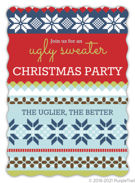 Ugly Christmas Sweaters Patterns.Ugly Christmas Pattern Ugly Sweater Party Invitation