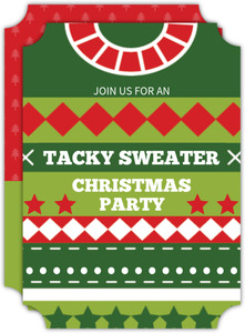 Christmas Spirit Sweater Ugly Sweater Party Invitation
