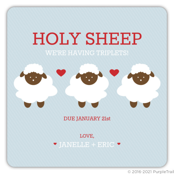 Holy sheep triplets announcement gender neutral baby shower holy sheep triplets announcement filmwisefo Choice Image