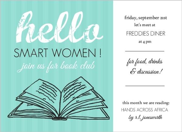 Book Club Invitations