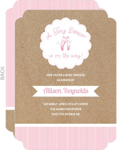 Tiny Dancer Baby Shower Invitation