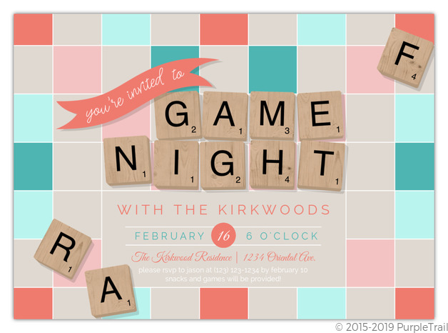photo relating to Letter Tiles Printable named Letter Tiles Printable Activity Night time Invitation