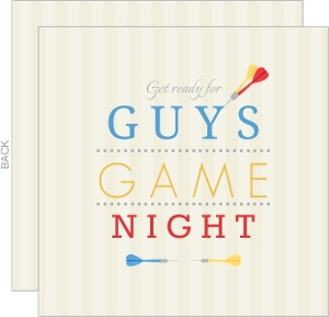 Darts Guys Game Night Invitation