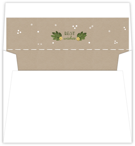 Holiday Kraft Cusom Envelope Liner