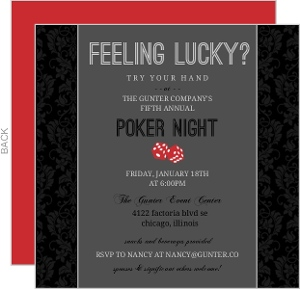 Formal Business Poker Night Invitation