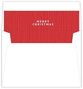 Red Striped Custom Envelope Liner