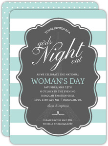 Pastel Paris Girls Night Out Invitation