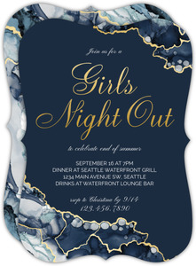 Modern Ink Geode Girls Night Out Invitation