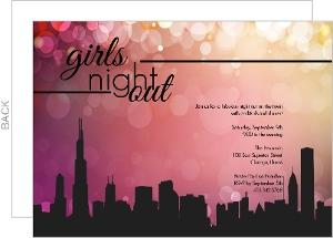 Girls Night Out Invitations Ladies Night Invites Purpletrail