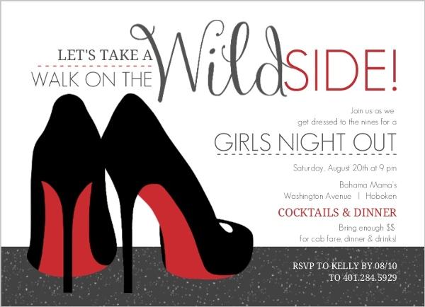 girls night out invitations ladies night invites