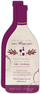 Tan Wine Stains Girls Night In Invitation