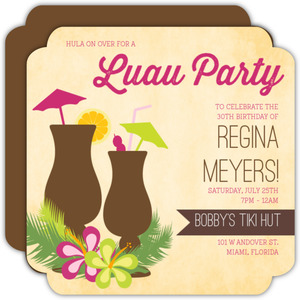 luau party invitations