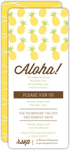 Tropical Pineapple Pattern Luau Party Invitation