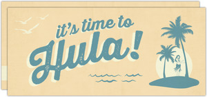 Retro Time To Hula Luau Invitation