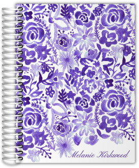 Cascading Handpainted Floral Daily Planner