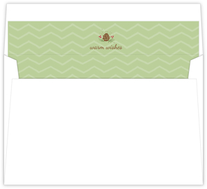 Chevron And Pinecone Pattern Envelope Liner