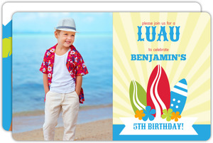Blue Surf Birthday Party Invite