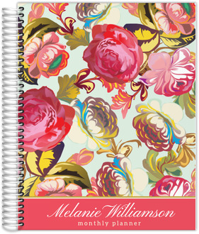 Pink Rose Garden Custom Monthly Planner