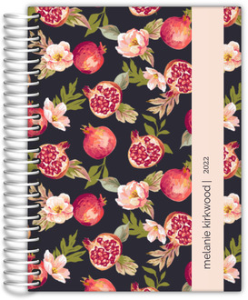Pomegranate and Florals Custom Daily Planner