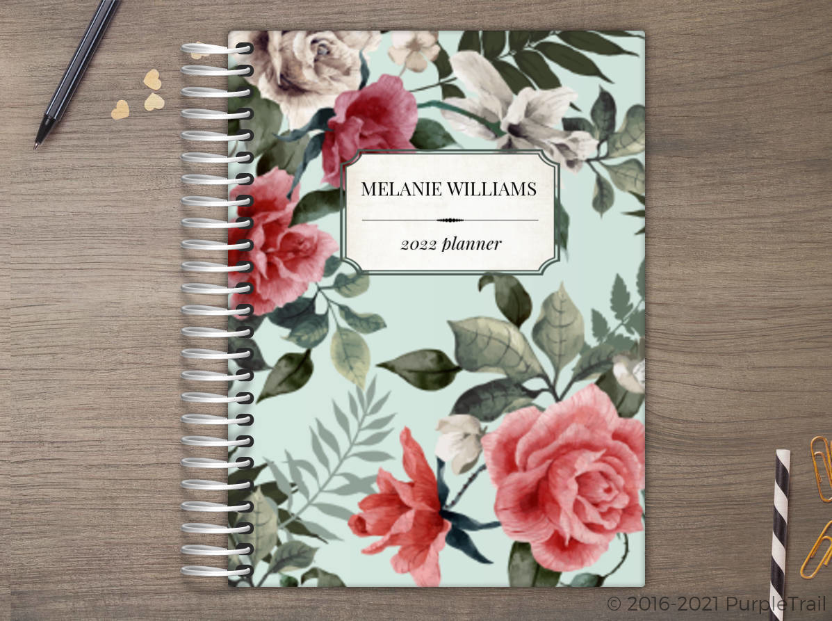 Vintage Rose Custom Daily Planner Daily Planners - Custom daily planner