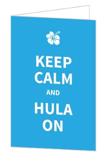 Blue Keep Calm And Hulu On Luau Party Invite