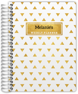 Golden Modern Triangle Patter Daily Planner