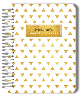 Golden Modern Triangle Patter Monthly Planner