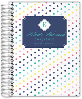 Simply Stunning Monogram Custom Monthly Planner