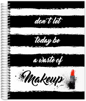 Black & White Makeup Custom Daily Planner